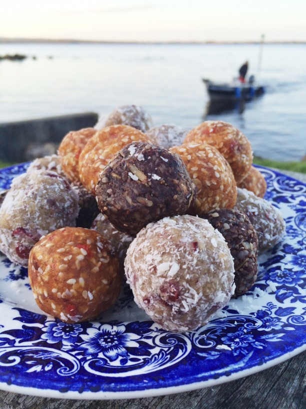A selection of the raw energy balls made by NutShed