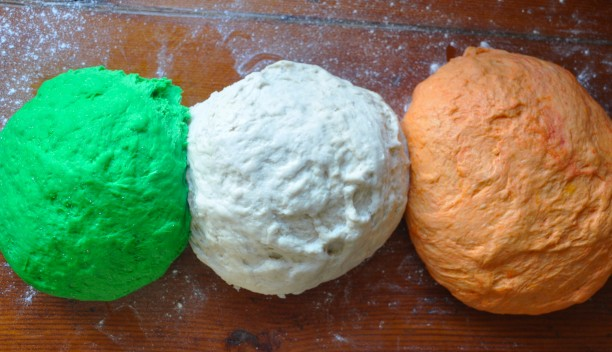 Green Regular & Orange Bagel dough
